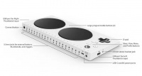 Xbox Adaptive Controller with labelled inputs.